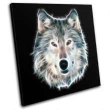 Wolf Illustration B & W Animals - 13-0217(00B)-SG11-LO